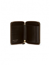 Comme des Garçons wallet in brown leather buy online