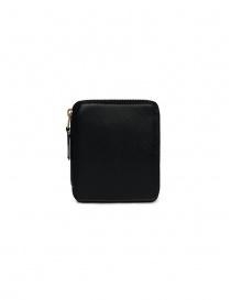 Comme des Garçons portafoglio quadrato in pelle nera online
