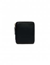 Comme des Garçons square wallet in black leather online
