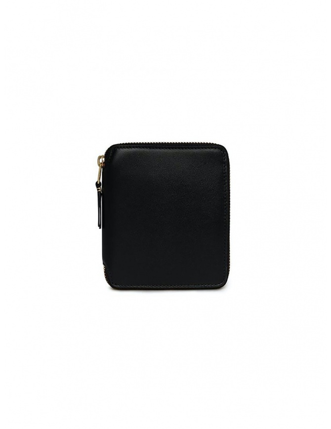 Comme des Garçons square wallet in black leather SA2100 BLACK