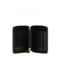 Comme des Garçons square wallet in black leather buy online