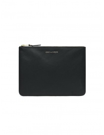 Comme des Garçons medium pouch in black leather online