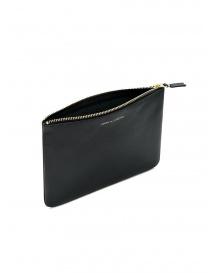 Comme des Garçons medium pouch in black leather buy online
