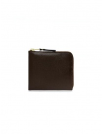 Comme des Garçons small brown leather wallet online