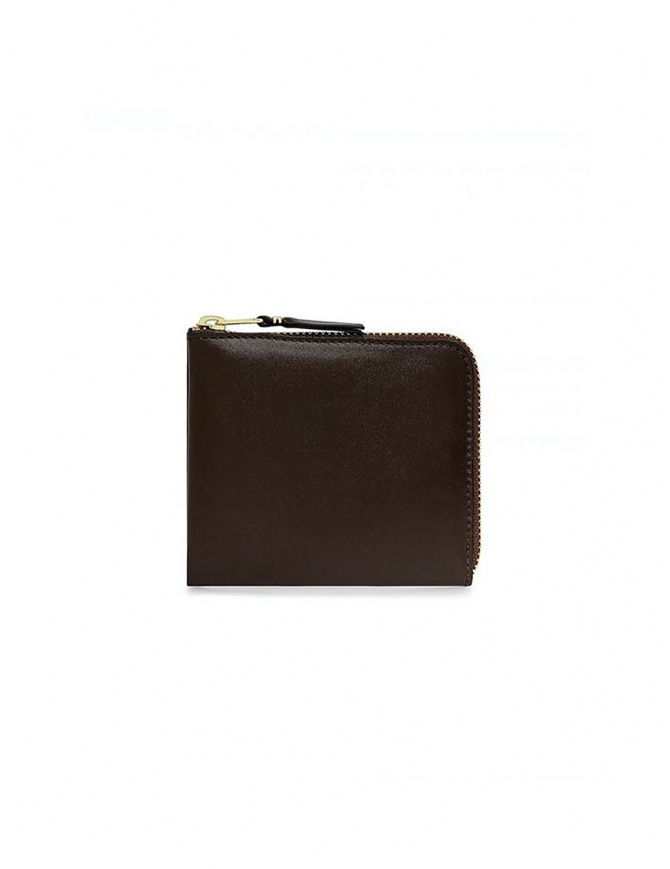 Comme des Garçons small brown leather wallet SA3100 BROWN wallets online shopping
