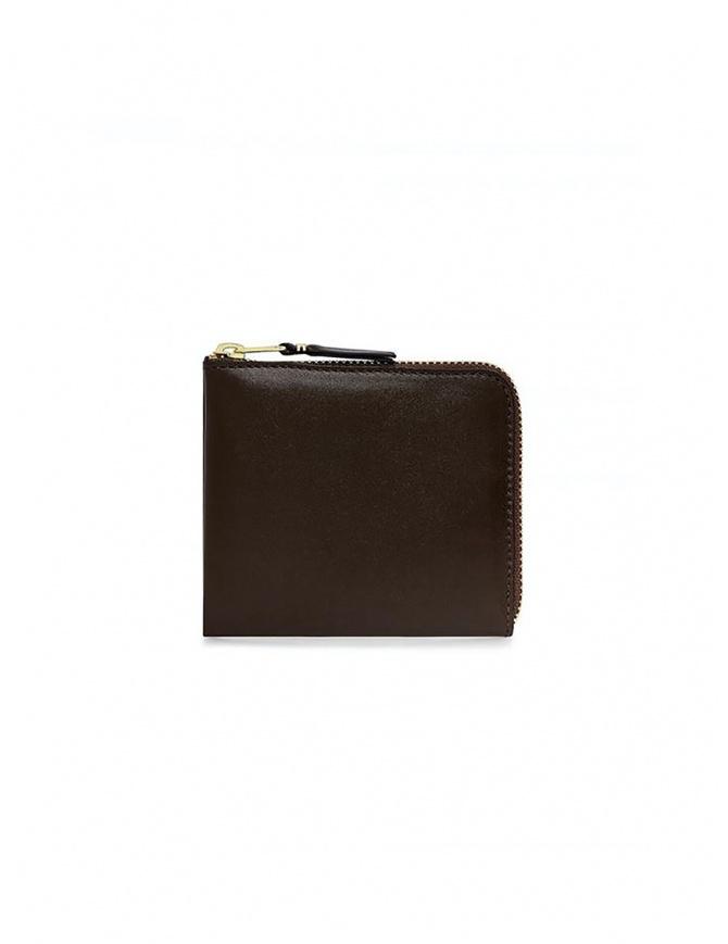 Comme des Garçons piccolo portafoglio marrone in pelle SA3100 BROWN portafogli online shopping