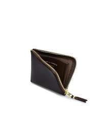 Comme des Garçons small brown leather wallet buy online