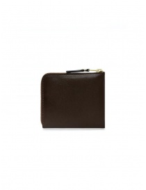 Comme des Garçons small brown leather wallet price