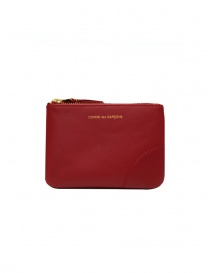 Comme des Garçons red leather wallet SA8100 RED