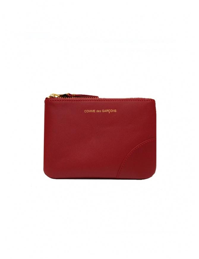 Comme des Garçons bustina rossa in pelle SA8100 RED portafogli online shopping