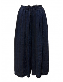 Vlas Blomme blue striped trousers online