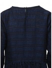 Vlas Blomme long dress in blue striped linen womens dresses buy online