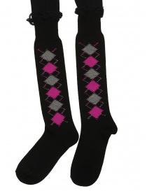 Comme des Garçons black pantyhose+socks with rhombuses