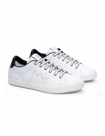 Womens shoes online: Leather Crown W_LC06_20101 white leather sneakers