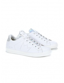 Leather Crown WLC06-613 sneakers bianche e argento online