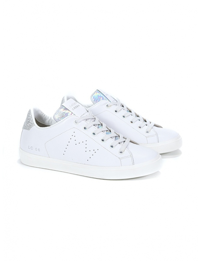 Leather Crown WLC06-613 sneakers bianche e argento WLC06-613 calzature donna online shopping