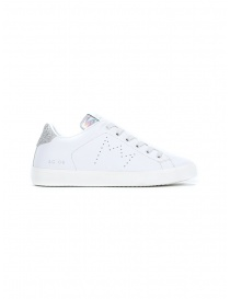 Leather Crown WLC06-613 white and silver sneakers