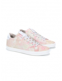 Calzature donna online: Leather Crown W136-612 sneakers rosa sfumate