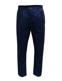 Camo pantaloni blu con tasche militari frontali online