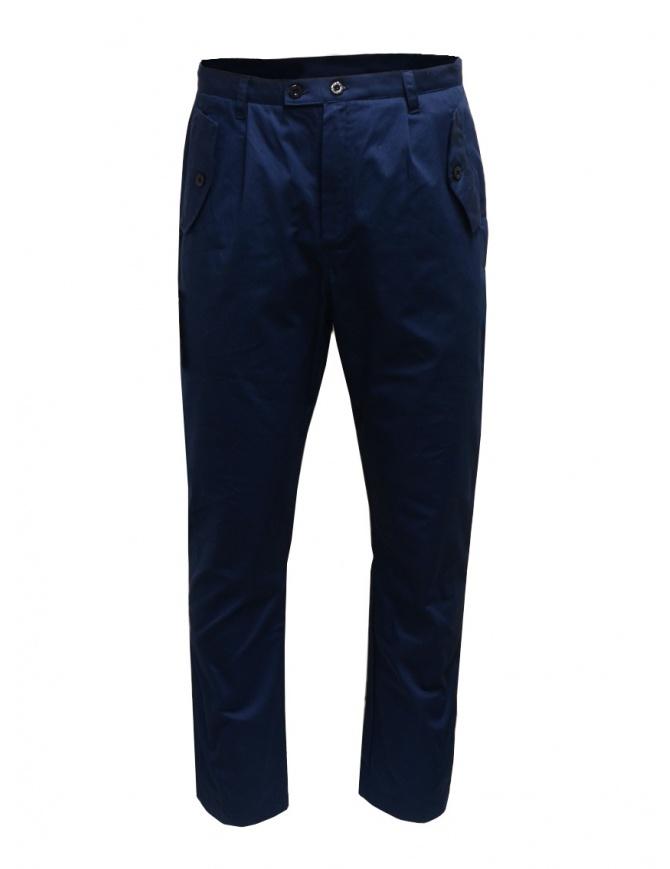 Camo pantaloni blu con tasche militari frontali AI0085 TYSON BLUE pantaloni uomo online shopping