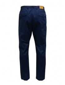 Camo pantaloni blu con tasche militari frontali