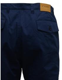 Camo pantaloni blu con tasche militari frontali prezzo