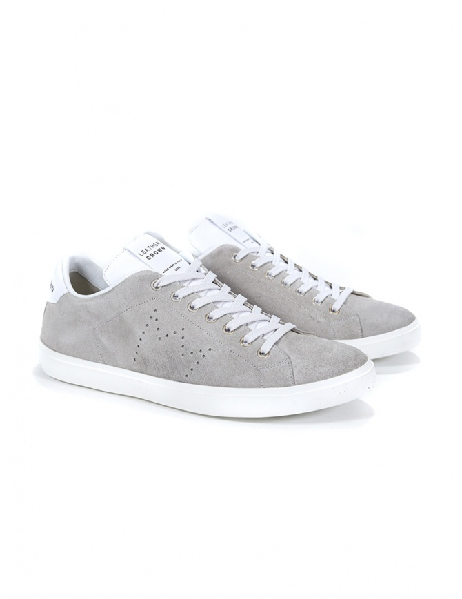 Leather Crown MLC06-671 sneakers grigie scamosciate MLC06-671 calzature uomo online shopping