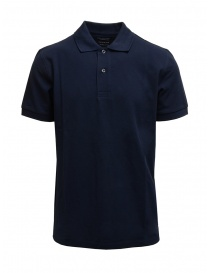 Selected Homme polo blu in cotone piquet organico online