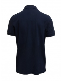 Selected Homme polo blu in cotone piquet organico