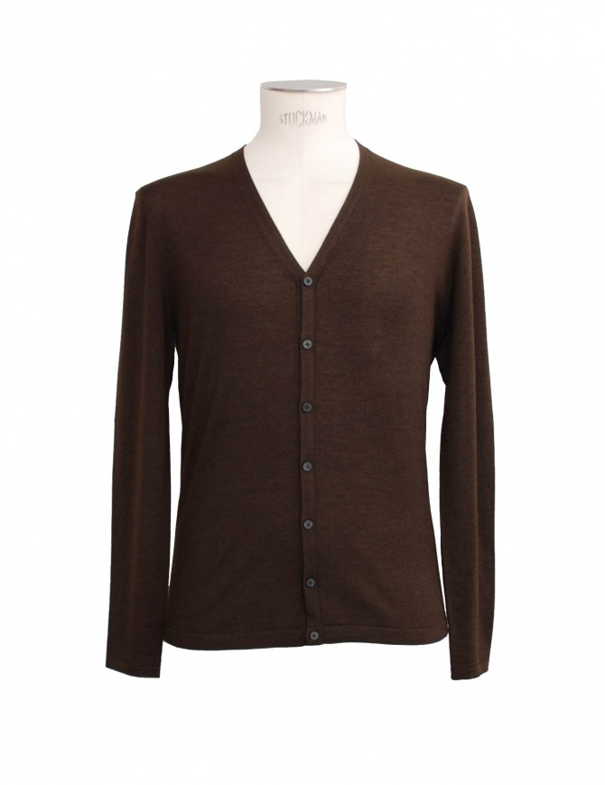 Adriano Ragni brown cardigan 16 18 004 01 RG BROWN mens cardigans online shopping