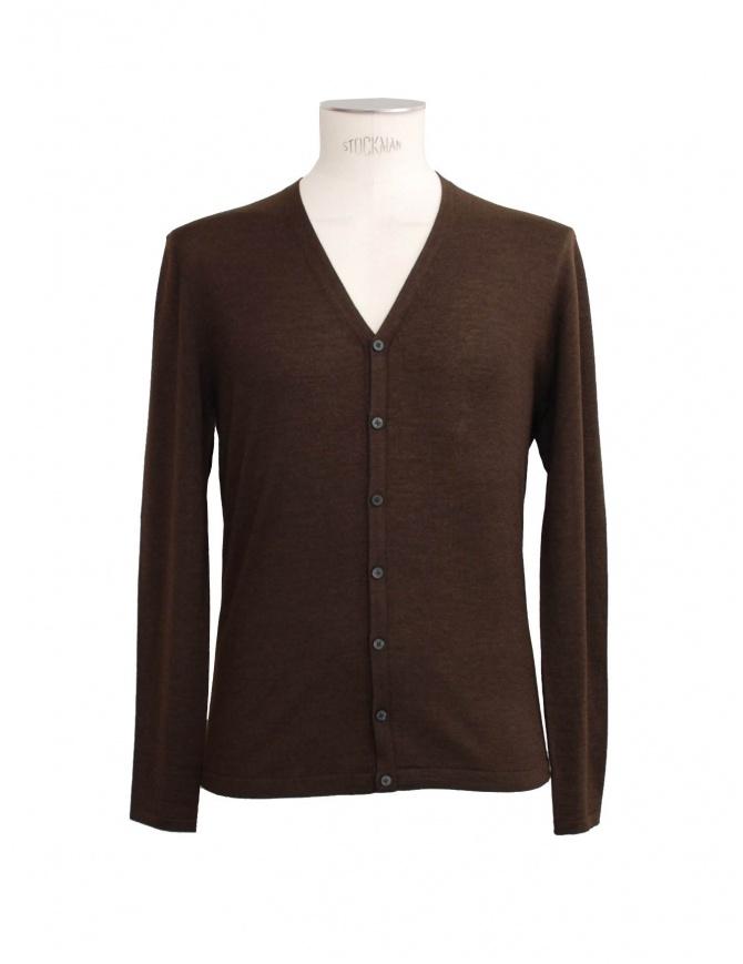 Cardigan Adriano Ragni colore marrone 16 18 004 01 RG BROWN cardigan uomo online shopping
