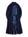 Kapital vestito blu indaco con rouches acquista online EK-641 IDG