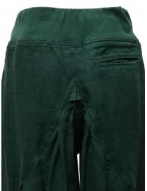Pantalone Kapital colore verde scuro pantaloni donna acquista online