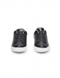 Leather Crown M_LC06_20106 sneakers nere in pelle calzature uomo acquista online
