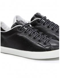 Leather Crown M_LC06_20106 sneakers nere in pelle calzature uomo prezzo