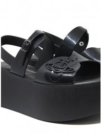 Melissa + Vivienne Westwood black wedge sandals womens shoes buy online