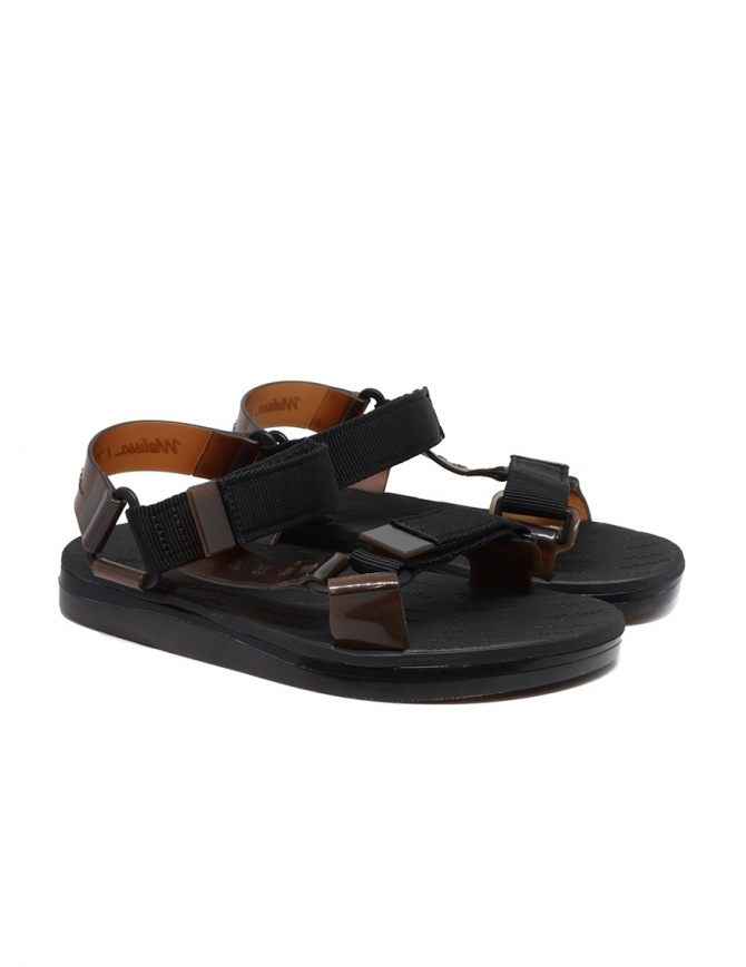 Melissa + Rider black and brown PVC sandals 32537 51620 BLK RIDER womens shoes online shopping