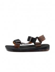 Melissa + Rider sandali in PVC neri e marroni