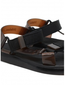Melissa + Rider black and brown PVC sandals womens shoes buy online