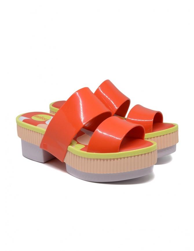 Melissa Geometric Rupture + Carla Colares orange sandal 32876 54019 RED RUPTUR womens shoes online shopping