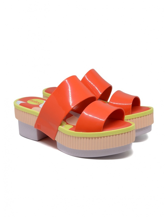 Melissa Geometric Rupture + Carla Colares sandalo arancione 32876 54019 RED RUPTUR calzature donna online shopping