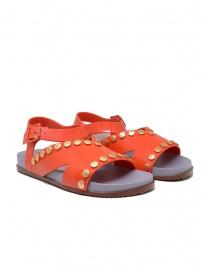 Calzature donna online: Melissa + Vivienne Westwood Ciao sandali arancioni con borchie