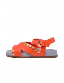 Melissa + Vivienne Westwood Ciao orange sandals with studs