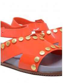 Melissa + Vivienne Westwood Ciao orange sandals with studs womens shoes buy online