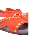 Melissa + Vivienne Westwood Ciao orange sandals with studs 32969 50878 RED V.W. CIAO SAND buy online