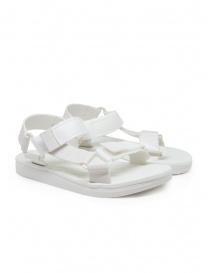 Calzature donna online: Melissa + Rider sandali in PVC bianchi