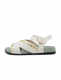 Melissa + Vivienne Westwood Ciao white sandals with studs