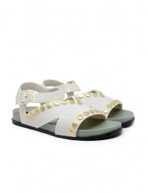 Calzature donna online: Melissa + Vivienne Westwood Ciao sandali bianchi con borchie