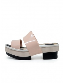 Melissa Geometric Rupture + Carla Colares pink and black sandals