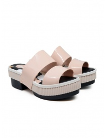 Calzature donna online: Melissa Geometric Rupture + Carla Colares sandali rosa e neri